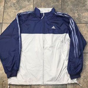 VTG Adidas Full Zip Windbreaker Jacket Size XL